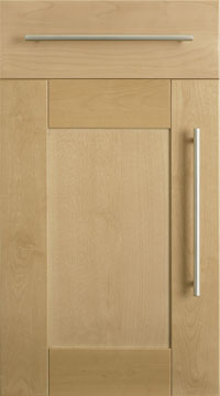 Birch veneer shaker kitchen doors